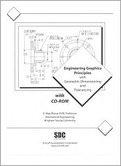 Engineering Graphics Principles with Geometric Dimensioning and Tolerancing with CD-ROM small book cover