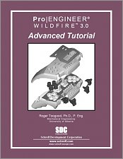 Pro/ENGINEER Wildfire 3.0 Advanced Tutorial small book cover
