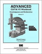 Advanced CATIA V5 Workbook Release 16 small book cover