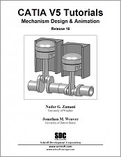 CATIA V5 Tutorials Mechanism Design & Animation Release 16 small book cover