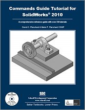 Commands Guide Tutorial for SolidWorks 2010 small book cover
