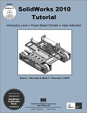 SolidWorks 2010 Tutorial and Multimedia CD small book cover