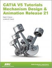 CATIA V5 Tutorials Mechanism Design & Animation Release 21 small book cover