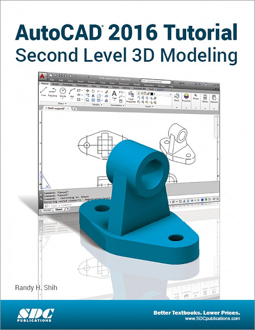 AutoCAD 2016 Tutorial Second Level 3D Modeling, Book, ISBN: 978-1 ...